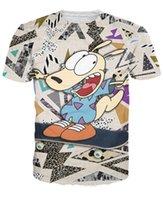 australian t shirts - d women men Rocko s Modern Life T Shirt Popular cartoon Australian wallaby Rocko t shirt s fashion summer tee
