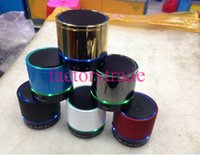 Wholesale New product New Style LED Light S09 Wireless Mini Speaker Bluetooth HiFi beatbox TF Card with MIC For iphone htc samsung S4 I9500 cheap