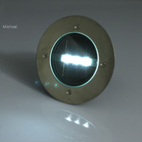 Wholesale NEW Solar Powered LED White Yellow Light Outdoor Road Driveway Pathway Dock Path Ground Garden Step Lamp
