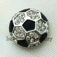 soccer jewelry - soccer snap button jewelry welcome hot sale metal snaps for bracelet MT001 noosa jewelry making supplier