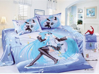Wholesale 100 cotton perform Duvet cover Sets girls bedding sets full Twin sizet anime chilrd kids bed twin full bed set