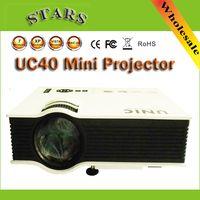 Wholesale New UC40 Digital LED Projector Mini Pico proyector Projector AV VGA A V USB SD VGA HDMI Home Theater Cinema Projector for Korean