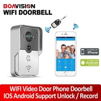 Wholesale 2015 Wifi Video Door Phone Door Bell Intercom Systems Support Unlock Record Take Photo App Can Be Run In Android And IOS Device
