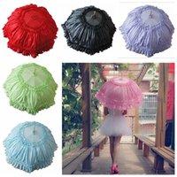 battenburg lace parasol umbrella - Lace Parasol Princess Umbrella for Wedding Bridal Battenburg Bridal Accessories Large Size Apollo Umbrella Purple Green Blue colors