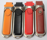 Wholesale 2015 different colors leather USB GB GB GB USB Memory Stick Flash Pen Drive