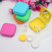 fashion contact lenses - Fashion Cute Mini Mirror Contact Lenses Travel Kit Easy Carry Lens Case Storage Holder Container Box Color Ramdon FG16095