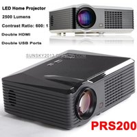 1080p led hdtv - High Resolution LED Projector P Full HD Widescreen Home Theater LCD Panel Display HD Multi Media Player Dual HDMI USB Cinema HDTV S200
