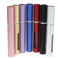Wholesale Mini Portable Refillable Atomizer ml Travel Perfume Spray Bottle Metal Empty