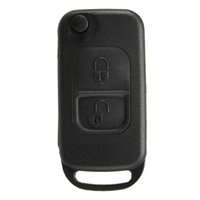 benz casings - 2 Buttons Flip Remote Uncut Blade Remote Car Key Case Shell Fob For Mercedes Benz order lt no track