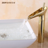 Wholesale Ze faction Continental golden basin faucet hot and cold taps all copper basin counter basin faucet antique table
