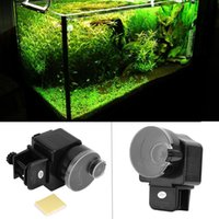 Wholesale Digital Automatic Fish Feeder Aquarium Tank Electronic Fish Food Feeder Timer for Aquarium Rockery Fountain Fish Pond Tank New