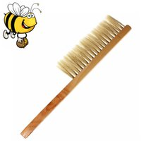 bee hive hair - New Arrival Natural Horse Hair Bee Hive Brush Beekeeping Beehive Tool Equipment Wooden Handle