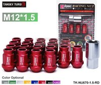 acura integra wheel - TANSKY D1 Spec JDM RACING WHEEL LUG NUTS Red M12 X MM FOR HONDA CIVIC ACURA INTEGRA FORD TK NU670 RD