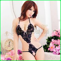 Wholesale D0086 Ms lingerie with the temptation to three point jumpsuits