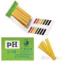 Wholesale 80 Strips Full Range pH Alkaline Acid Test Paper Water Litmus Testing Kit I
