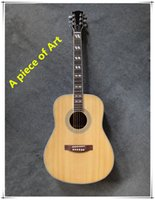 Wholesale white and black side Acoustic Guitar red back veneer picea asperata Body Rosewood Fingerboard