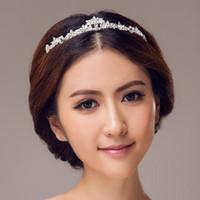 Cheap 2016 Cheap Bridal Crowns Wedding Hair Accessory With Crystals Bridal Veil Tiaras Crown Headband In Stock Wedding Accessory