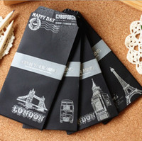 architecture series - New Fashion Vintage European architecture Black series Hot silver style Envelope dandys