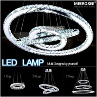 Wholesale Hot sale Diamond Ring LED Crystal Chandelier Light Modern LED Lighting Circles Lamp Guarantee Fast shipping