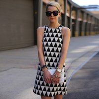 Wholesale Europe and the United States In The Summer New Fashion Sexy Black And White Print Mini Dress