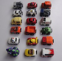 Cheap New 5-6cm Mini Pull back toy car Children Racing Car Toys Police car Fire Truck Learning Toys pull-back vehicle toy car C097