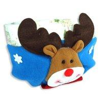 ball cap storage - New Deer Pattern CM L CM W Christmas Balls Gifts Storage Cap Basket Christmas Decoration Stocking