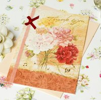 Wholesale 2015 Brand New Best Wishes Paper Flowers Series QM PF01 Handmade Applique Birthday Card Thanks Card Gift Card