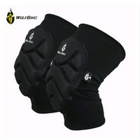 Wholesale WOLFBIKE Two Pieces Kneepad Skiing Goalkeeper Soccer Football Volleyball Extreme Sports knee pads Protect Cycling Knee Protector HX002