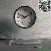 Wholesale Transparent quartz glass table clock desktop quartz table clock table clock Sweep Rome literally mute hotel desk bell