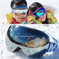 best snowboard goggles - 2016 Ski goggles spherical professional snowboard glasses men women snow eyewear snowmobile best skiing googles mask double lens big large