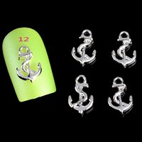 anchor tools - d alloy nail art studs rhinestone nail art jewelry decorations for manicure anchors design nail tool suppliers