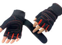 anti weight - Strong Gym Fitness Gloves Power Luvas Fitness Academia Anti skid Guantes Protective Crossfit Gym Gloves Weight Lifting for Sport