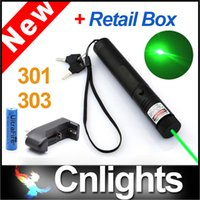 Wholesale High Power nm Green Laser Pointers Pen Lazer Pointer Light with Battery Retail Box Focus Burning Wood Matchs