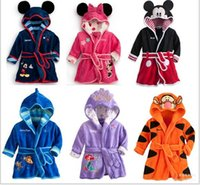 Wholesale Cartoon Children s Towels Robes Baby Boy Girl Coral Fleece Homewear Robes Winter Night Robes Style WD482