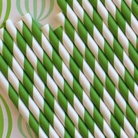 Wholesale mixed Striped and Polka Dot Wedding Paper Straws drinking straws party drinking straws