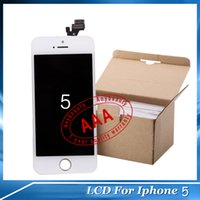 LCD Screen Panels iphone 5 digitizer - 2015 Grade AAA iPhone G LCD Assembly Display Digitizer Touch Screen White and Black Mix Color