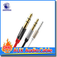 Cheap Aux Cable 3.5mm Male To Male Jack Gold Plated Plug Vehicle Mounted Stereo Audio Aux Line For Car CD Player Tablet
