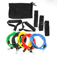 Wholesale New PC Latex Resistance Bands Fitness Exercise Tube Training Pull Rope Set Yoga ABS Workout m