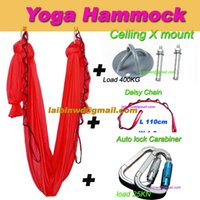 auto lock carabiner - TOP quality Aerial Yoga Hammock Inversion Swing Trapeze yoga m pair auto lock carabiner pair daisy chain pair celling mount