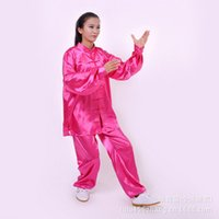 Wholesale summer men and women of blue silk slip air permeability of South Korea elasticity simulation silk martial arts outfit