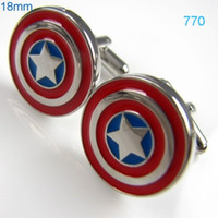 america cufflinks - Superman Cufflinks Captain America Anime Cufflink Mens Shirt Studs Personalized Groomsmen Gifts cf770
