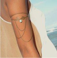 arm charm - Bracelets For Women Fashion Bronez Silver Plated Charm Bracelet Vintage Water Drop Style Hollow Out Alloy Chains Tassel Arm Bracelets BR353