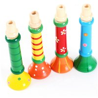 Wholesale Baby Kids Children Wooden Trumpet Hooter Bugle Suona Educational Musical Toys