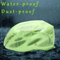 Wholesale New Windproof Waterproof Dust proof Rain Cover MTB Road Bike Helmet Cover Bicycle Cycling Helmets Covers