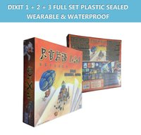 Wholesale Waterproof dixit basic quest odyssey expansion jinx journey board game family playing cards Wearable plastic sealed