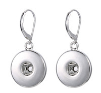 Wholesale pairs DIY replaceable Alloy snap earrings women jewelry accessories fit for alloy buttons