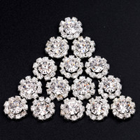 decorative buttons - 12MM Rhinestones Button Silver Colors Embellishment Decorative Buttons For Craft Hair Accessories
