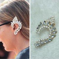 Wholesale Earrings Jewelry Women Fashion Quality Full Rhinestone Elf s Ear Gold Plated Ear Cuff Clip Earrings piece ER597