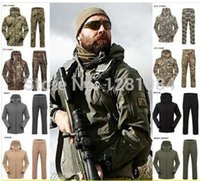 animal skin printed fleece - Outdoors Waterproof SoftShell Camouflage Pants Men s Shark Skin Sports Military Hunting Mountaineering camping Trousers