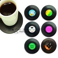 vinyl record - Spinning Retro Vinyl CD Record Drinks Coasters Vinyl Coaster Cup Mat